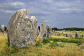 Standing stones at Carnac in France — Stock Photo