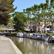 Canal at Narbonne in France — Stock Photo