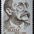 Stamp with Léon Blum — Stock Photo
