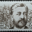 Stamp with Gustave Eiffel - Stock Photo