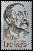 Stamp with Léon Blum — Stock Photo
