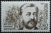 Stamp with Gustave Eiffel — Stock Photo