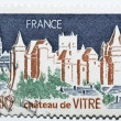 Stamp with castle of Vitré in France — Stock Photo