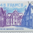 Stamp with castle of Maisons-Laffitte in France — Stock Photo