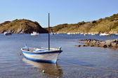 Small boat at Port Lligat in Spain — Stock Photo