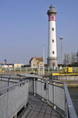 Lighthouse of Ouistreham in France — Stock Photo