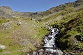 Fluxo nos Alpes, na França — Fotografia Stock
