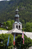 Church of Morzine in France — Stok fotoğraf