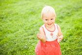 Cute little girl smiling — Stock Photo