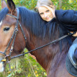 Stock Photo: Girl and horse.
