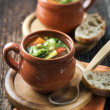 Vegeterian soup - Stock Photo