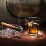 Постер, плакат: Rum and cigar
