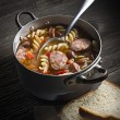 Sausage stew — Stock Photo