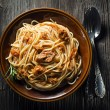 Stock Photo: Spaghetti wit tuna