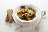 Seafood stew — Stock Photo