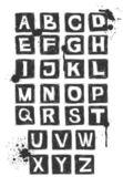 Hand drawn alphabet. — Stock Vector