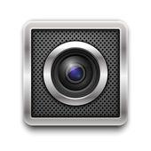 Kamera-objektiv. — Stockvektor