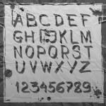 Hand drawn alphabet — Stock Vector #22456657