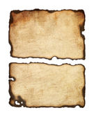 Old paper with burnt edges — Stock Vector