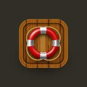 Lifebuoy icon. — Stock Vector
