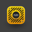 Push button icon. - Stock Vector