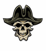 Pirate Skull. Hand drawn. Vector eps8 — Stock Vector