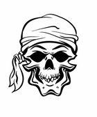 Pirate Skull. Hand drawn. Vector eps8 — Stock Vector