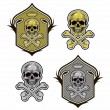 Shield with skull and bones vector eps8 — Stock Vector