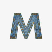 Isolated alphabet made from jeans fabric — ストックベクタ