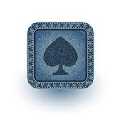 Denim poker. Vector illustration. Eps10 — Vecteur