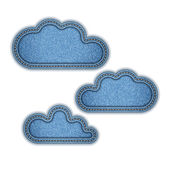Vector illustration of jeans cloud — 图库矢量图片