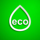 Eco symbol. Design element. Eps10 — Vector de stock