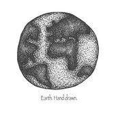Earth. Hand drawn. Vector eps8 — Stock Vector