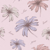 Vector floral seamless pattern . Hand drawn. eps8 — Stok Vektör