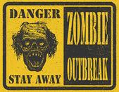 Zombie Outbreak. Hand drawn. Vector Eps8 — Stock Vector