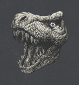 Tyrannosaurus Dinosaur . Hand drawn. Vector eps8 — Stock Vector
