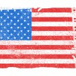 American flag with grunge texture. Vector eps8 — Vector de stock