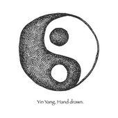 Yang yin. mão desenhada. Vector eps8 — Vetor de Stock