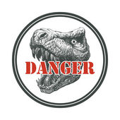 Tyrannosaurus Dinosaur . Hand drawn. — Stock Vector