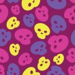 Colorful Skulls vector seamless pattern — Stock Vector #44340389