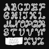 Alphabet. hand drawn. vector illustration eps8  — Stock Vector
