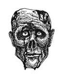 ゾンビの頭。手描きします。eps8 をベクトルします。 — ストックベクタ