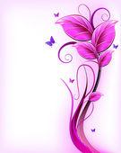 Floral fundo rosa. vector — Vetorial Stock