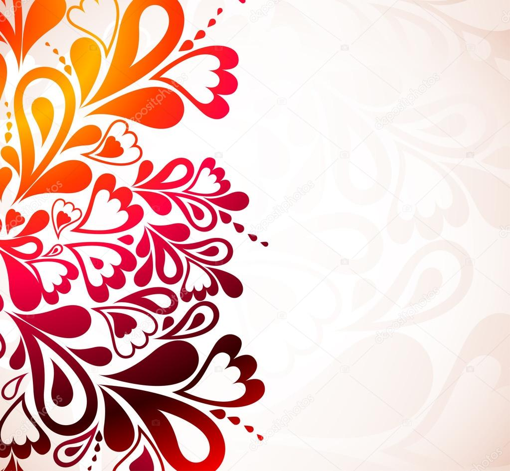 Color Floral Background Colorful Background With Heart