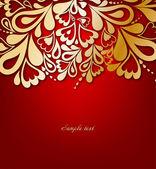 κόκκινο floral φόντο. εικονογράφηση φορέας — Διανυσματικό Αρχείο
