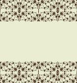 Floral border. Vector illustration — Stock Vector