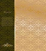 Vintage gold ornamentalen hintergrund. vektor — Stockvektor