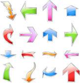 Set colorful arrows. Vector — Stock Vector