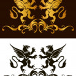 Background heraldry decoration. Vector — Vector de stock #12702531