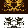 Background heraldry decoration. Vector — Vettoriale Stock #12702531